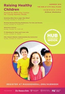 MGH HUBweek Raising Healthy Minds Poster