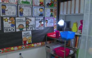Sample sensory corner in a classroom