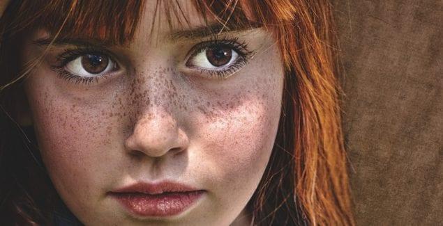 A girl's face