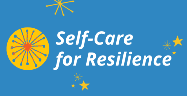"Logo graphic with text ""Self-Care for Resilience"""